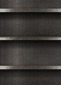 Metal empty shelves background — Stock Photo