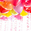Balloons with streamers for birthday party celebration isolated — Stock Photo #18510499
