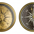 Nautical compass isolated on white collection — Stock Photo