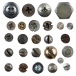 Screws, nails, bolts heads isolated on white collection — Stock Photo