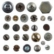 Screws, nails, bolts heads isolated on white collection — Stock Photo #18936873