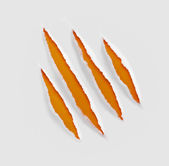 Claws scratches on paper background — 图库照片