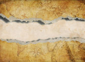 Torn or ripped old map background — Stock Photo