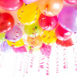 Balloons with streamers for birthday party celebration isolated — Stock Photo #19973013