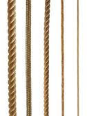 Coleção de cordas diferentes isolada no branco — Foto Stock