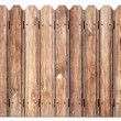 Old wooden fence isolated on white — Stock Photo #20995723