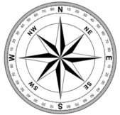 Simple compass rose — Foto Stock