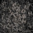 Stock Photo: Old metal letters background