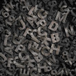 Old metal letters background — Stock Photo #21544967