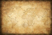 Aged treasure map background — 图库照片