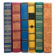 Stack of old colorful books isolated on white — Stockfoto #21878895