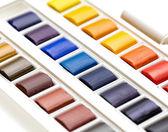 Watercolour box closeup — Stock Photo