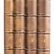 Royalty-Free Stock Photo: Stack of old books isolated on white background