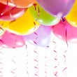 Balloons with streamers for birthday party celebration — Stock Photo #23458334