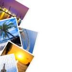 Traveling photos frame isolated on white — Stock Photo #23533697