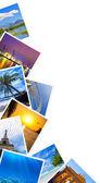 Traveling photos frame isolated on white — Stock Photo