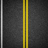 Snelweg asfalt weg bovenaanzicht — Stockfoto