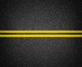 Asphalt road marking top view — Stock Photo