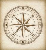 Compass rose no papel velho — Foto Stock