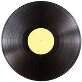 Vinyl record disc isolated with clipping path included — Stock Photo