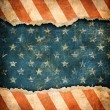 Grunge ripped paper USA flag pattern — Stockfoto