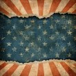 Grunge ripped paper USA flag pattern — Stock Photo #27566319