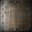 Metal background with rivets — Stock Photo #27698685