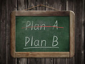 Concepto de plan un plan b — Foto de Stock