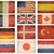 Grunge flags: USA, Great Britain, Italy, France, Denmark, German — Stock Photo #27751389