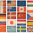 Grunge flags: USA, Great Britain, Italy, France, Denmark, German — Lizenzfreies Foto