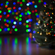 Stock Photo: Christmas tree blurred background