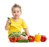Kid eating healthy food — Stock Photo