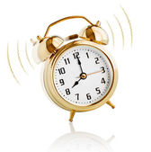 Alarm clock ringing at 8 o'clock morning — Stock Photo