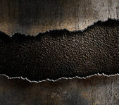 Damaged metal torn edges background — Stock Photo