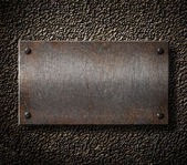 Rusty metal plate background — Stock Photo