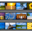 Travel photos or pictures film strip isolated on white — Stock Photo #28916291