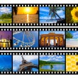 Travel photos or pictures film strip isolated on white — Stock Photo