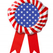 USA flag guarantee seal with ribbon — Stock Photo