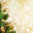 Golden Christmas tree background — Stock Photo #31839871