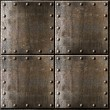 Rusty metal armour background with rivets — Stock Photo