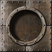 Metal porthole background — Stock Photo