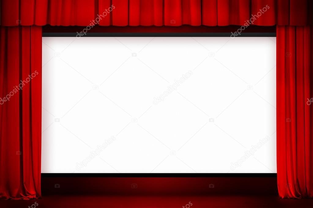 cran de cin ma avec rideau rouge ouvert photographie andrey kuzmin 32777167. Black Bedroom Furniture Sets. Home Design Ideas