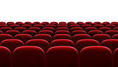 Red auditorium chairs isolated — Stock Photo