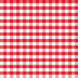 Real seamless pattern of red gingham classic tablecloth — Stockfoto