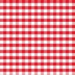 Real seamless pattern of red gingham classic tablecloth — Stock Photo #32973249