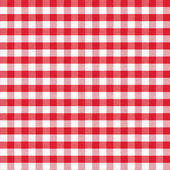 Real seamless pattern of red gingham classic tablecloth — Stock Photo