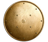 Round bronze shield isolated — Stock Photo