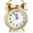 Alarm clock showing 2014 new year — Stock Photo