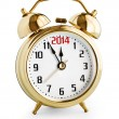 Stock Photo: Alarm clock showing 2014 new year