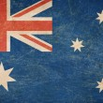 Old Australia flag — Stock Photo